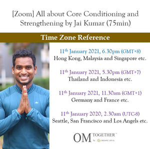 [Zoom] All about Core Conditioning and Strengthening (75min) at 6.30pm Mon on 11 Jan 2021 -completed