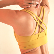 Load image into Gallery viewer, [Free Shipping] OHMfinity - LUSH X-Back 2.0 Bra - Tuscany Yellow