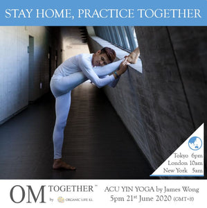 [Online] ACU-YIN YOGA by James' Wong (90 min) at 5pm on 21 June 2020 -completed