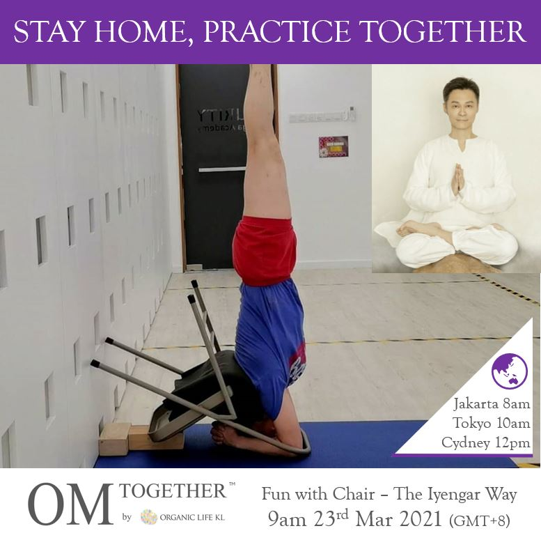 Fun with Chair - The Iyengar Way (75 min) at 9am Tue on 23 Mar 2021 -completed