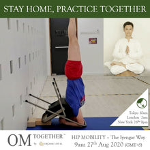 Load image into Gallery viewer, [Zoom] HIP MOBILITY - The Iyengar Way by Alan Chin  (60 min) at 9am Thu on 27 Aug 2020 -completed
