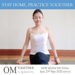 [Online] NEW MOON YIN YOGA by Asako (90 min) at 5pm on 23 May 2020 (GMT+8)