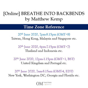 [Online] BREATHE INTO BACKBENDS by Matthew Kemp (75 min) at 7pm on 20 June 2020 -completed