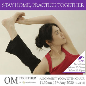 [Online] ALIGNMENT YOGA WITH CHAIR - The Pelvic Floor by Caymee (60 min) at 11.30am Sat on 15 Aug 2020 (GMT+8)