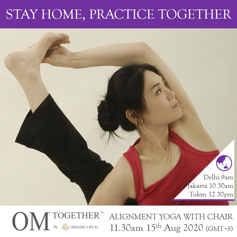 [Zoom] ALIGNMENT YOGA WITH CHAIR - The Pelvic Floor by Caymee (60 min) at 11.30am Sat on 15 Aug 2020 -completed