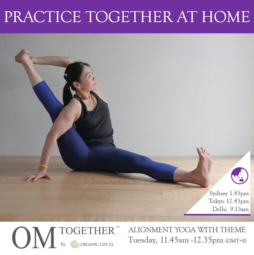 [Zoom] ALIGNMENT YOGA WITH THEME by Caymee (60 min) at 11.45am Tue on 15 Sep 2020 - completed