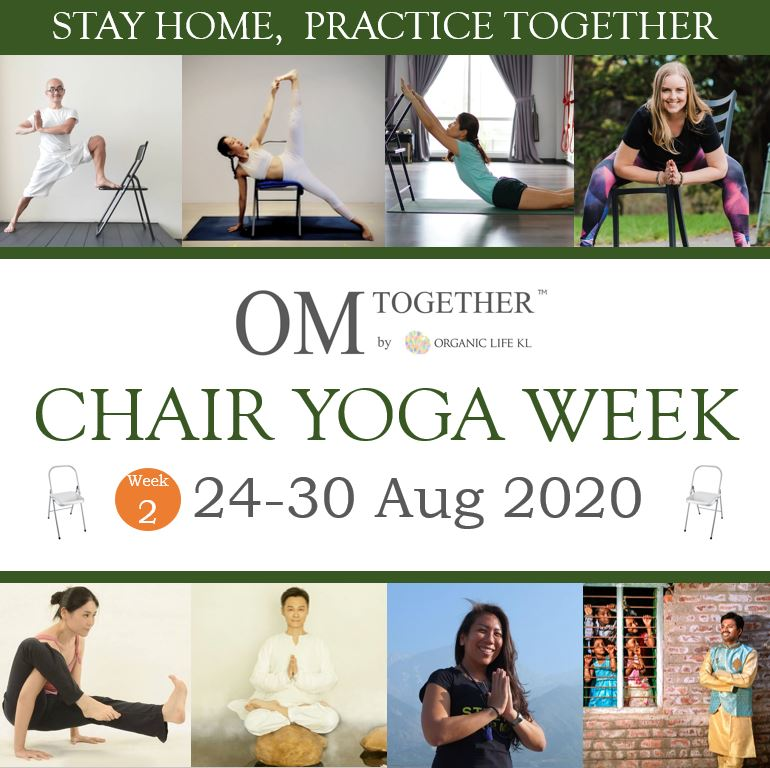 CHAIR YOGA UNLIMITED PASS (24-30 Aug 2020) - up to 8 classes