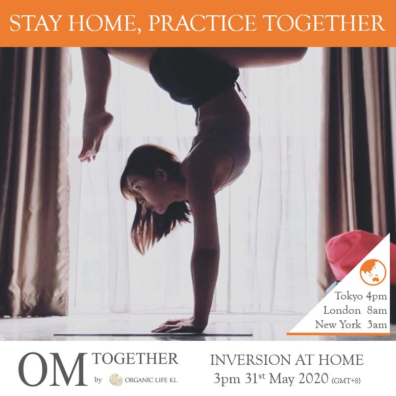 [Online] INVERSION AT HOME by Esther (60 min) at 3pm on 31 May 2020 -completed