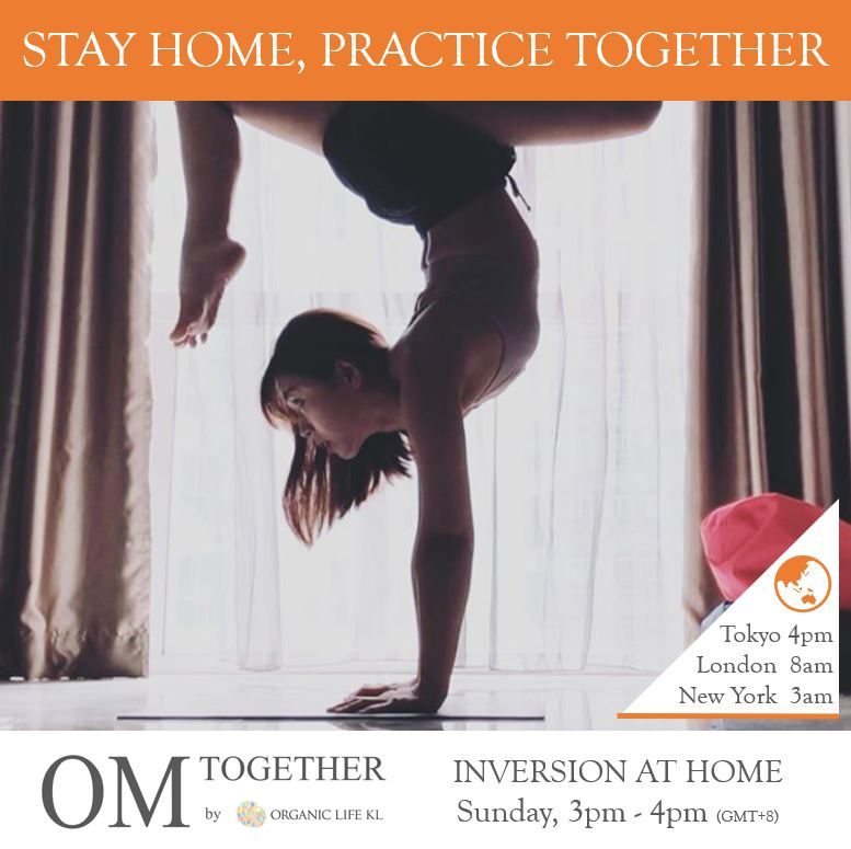 [Online] INVERSION AT HOME by Esther (60 min) at 3pm on 14 June 2020 -completed