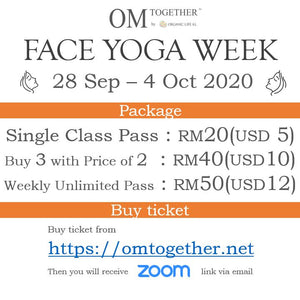 FACE YOGA WEEK UNLIMITED PASS (28 Sep - 4 Oct 2020) - up to 6 classes