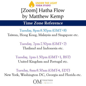 [Zoom] Hatha Flow by Matthew Kemp (50 min) at 8pm on 29 Sep 2020 - completed