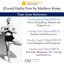Load image into Gallery viewer, [Zoom] Hatha Flow by Matthew Kemp (50 min) at 8pm on 12 Jan 2021 -completed