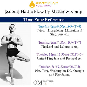 [Zoom] Hatha Flow by Matthew Kemp (50 min) at 8pm on 29 Dec 2020 -completed