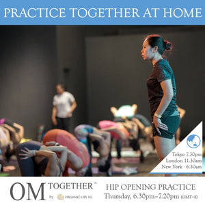 [Zoom] HIP OPENING PRACTICE by Mariana Sin (50 min) at 6.30pm Thu on 27 Aug 2020 -completed