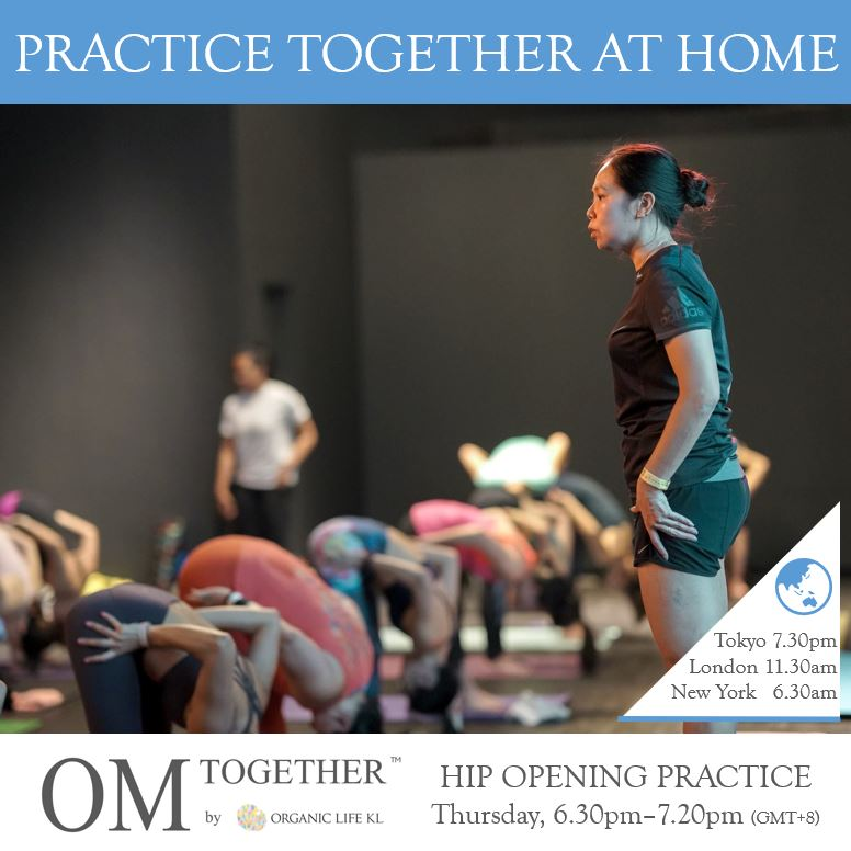 [Zoom] HIP OPENING PRACTICE by Mariana Sin (50 min) at 6.30pm Thu on 26 Nov 2020 - completed
