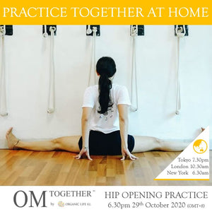 [Zoom] HIP OPENING PRACTICE by Mariana Sin (75 min) at 6.30pm Thu on 29 Oct 2020 (GMT+8)