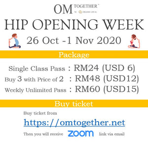 HIP OPENING WEEK UNLIMITED PASS (26 Oct - 1 Nov 2020) - up to 6 classes