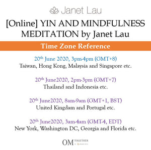 [Online] YIN AND MINDFULNESS MEDITATION by Janet Lau (90 min) at 3pm on 20 June 2020 -completed
