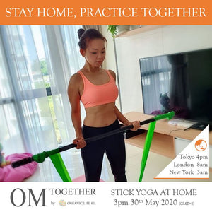 [Online] STICK YOGA AT HOME by Josephine Chan (60 min) at 3pm on 30 May 2020 (GMT+8)