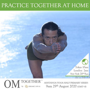 [Online] ASHTANGA YOGA HALF PRIMARY SERIES by Ken Harakuma (120 min) at 9am Sat on 29 Aug 2020 (GMT+8)
