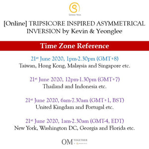[Online] TRIPSICORE INSPIRED ASYMMETRICAL INVERSION by Kevin and Yeonglee (90 min) at 1pm on 21 June 2020 -completed