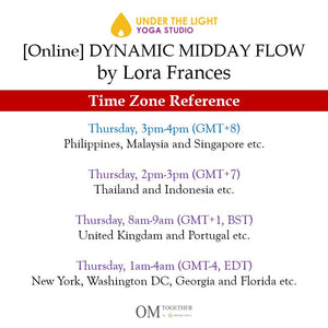 [Zoom] DYNAMIC MIDDAY FLOW by Lora Frances (60 min) at 3pm Thu on 3 Sep 2020 - completed