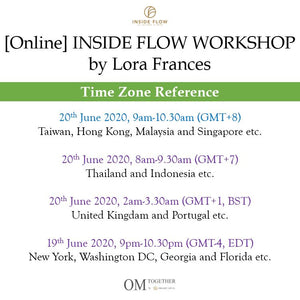 [Online] INSIDE FLOW WORKSHOP by Lora Frances (90 min) at 9am on 20 June 2020 -completed