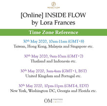 Load image into Gallery viewer, [Online] INSIDE FLOW by Lora Frances (75 min) at 10am on 30 May 2020 -completed