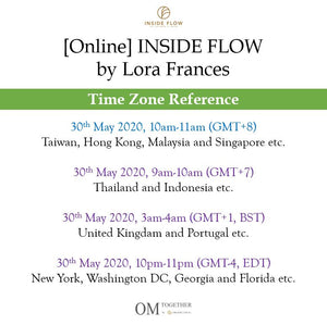 [Online] INSIDE FLOW by Lora Frances (75 min) at 10am on 30 May 2020 -completed