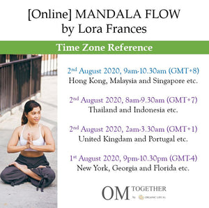 [Online] MANDALA FLOW by Lora Frances (90 min) at 9am Sun on 2 August 2020 -completed