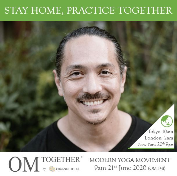 [Online] MODERN YOGA MOVEMENT by Miles Maeda (75 min) at 9am on 21 June 2020 -completed