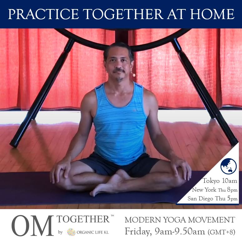 MODERN YOGA MOVEMENT (50 min) at 9am Fri on 23 April 2021 (GMT+8)