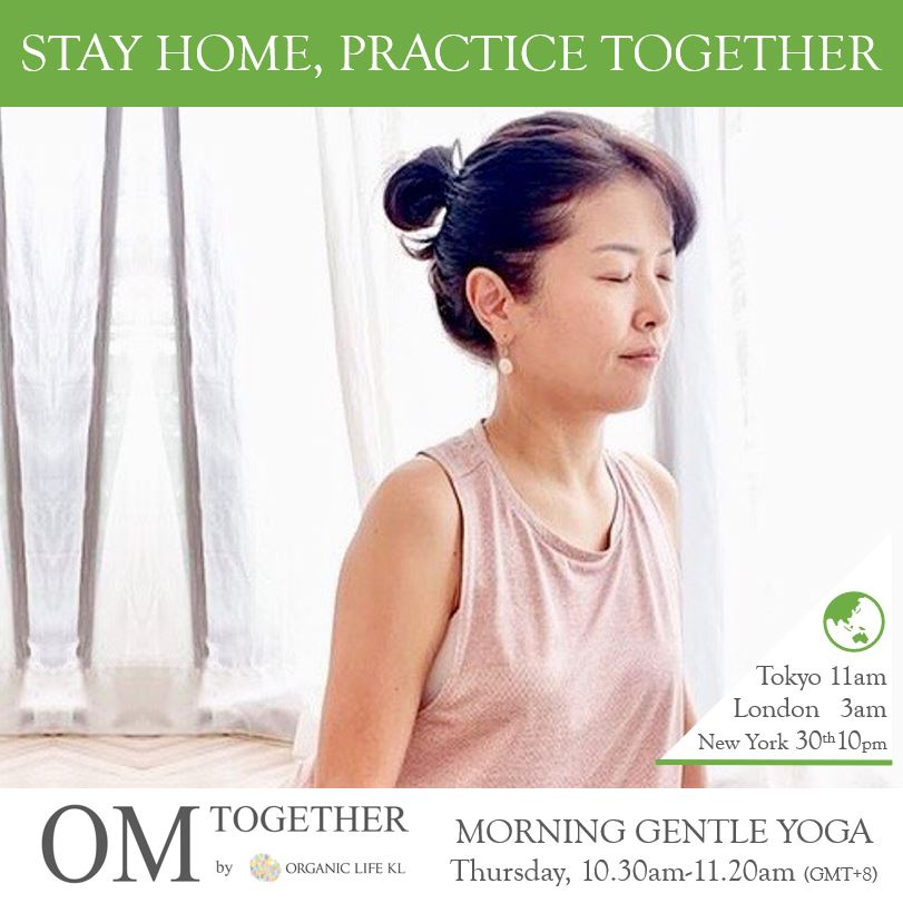 [Zoom] MORNING GENTLE YOGA by Asako (50 min) at 10.30am Thu on 10 Sep 2020 - completed