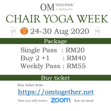 Load image into Gallery viewer, [Zoom] CHAIR YOGA FOR ANXIETY by Claire (60 min) at 9am Wed on 26 Aug 2020 -completed