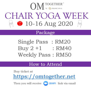 [Zoom] CHAIR YOGA WITH SHAOLIN TWIST by Lee Swee Keong (60 min) at 9am Sat on 15 Aug 2020 (GMT+8)
