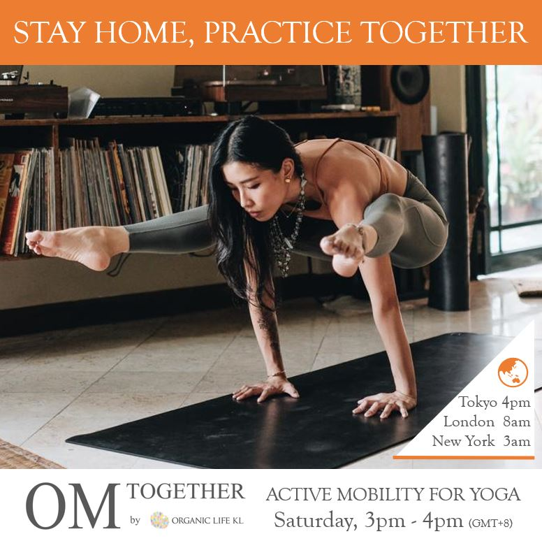 [Online] ACTIVE MOBILITY FOR YOGA by Sandra Woo (60 min) at 3pm on 27 June 2020 -completed