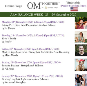 ARM BALANCE WEEK UNLIMITED PASS (23-29 Nov 2020) - up to 5 classes