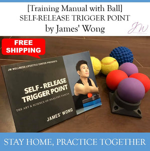 "[Free Shipping] Training Manual ""SELF-RELEASE TRIGGER POINT by James' Wong"" with 2 Balls"