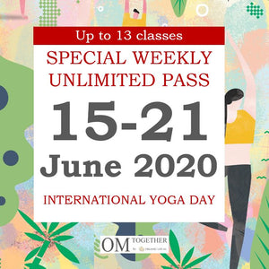 SPECIAL WEEKLY PASS (15-21 June 2020) - up to 13 classes -