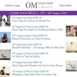 [Zoom] CHAIR YOGA FOR BALANCE by Deerah Sze (60 min) at 9am Mon on 10 Aug 2020 -completed