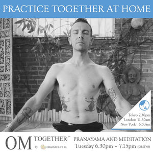 [Online] PRANAYAMA AND MEDITATION by Will Duprey (45 min) at 6.30pm Tue on 7 July 2020 -completed