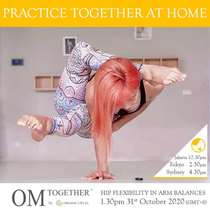[Zoom] HIP FLEXIBILITY IN ARM BALANCES by Yenny Christine (75 min) at 1.30pm Sat on 31 Oct 2020 (GMT+8)