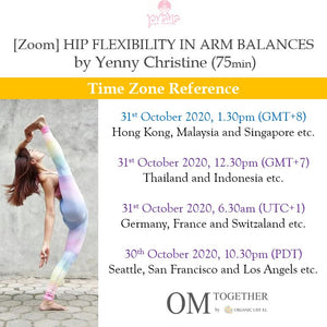 [Zoom] HIP FLEXIBILITY IN ARM BALANCES by Yenny Christine (75 min) at 1.30pm Sat on 31 Oct 2020 -completed