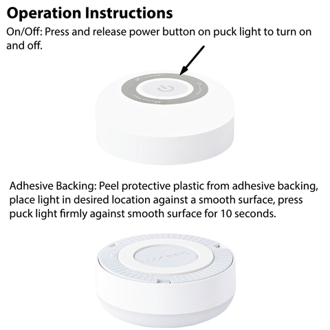 LUXPRO LP174 Puck Light Operation Instructions
