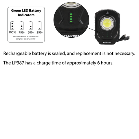LUXPRO LP387 Work Light Charging Instructions