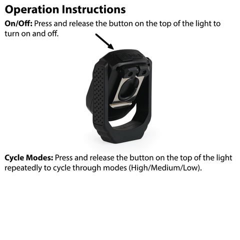 LUXPRO LP387 Work Light Operation Instructions