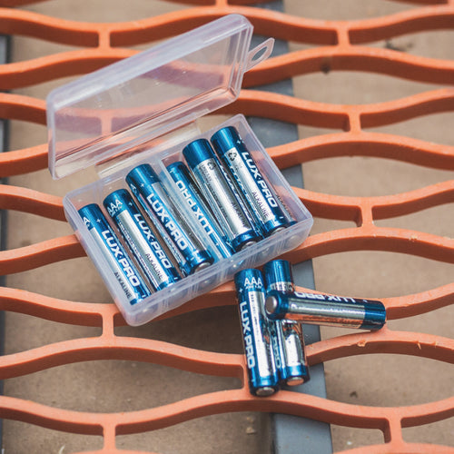 12 AAA Batteries and Storage Box