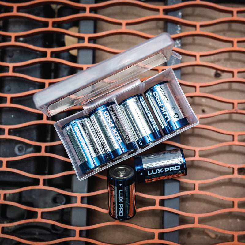 8 D Cell Batteries and Storage Box