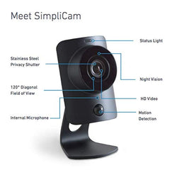 HD Home Security Camera with Night Vision - Easy WiFi Setup