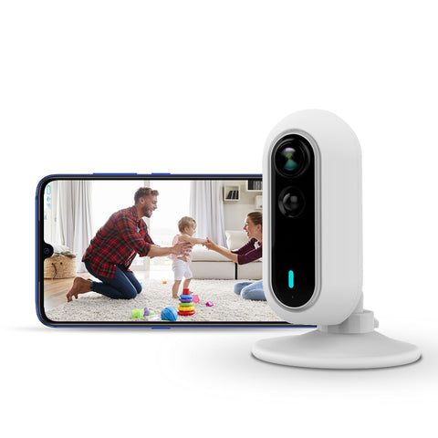 Smart Indoor Home Security Camera - Night Vision & Motion Detection - Full HD 1080P - Easy WiFi Setup